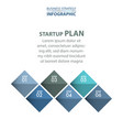 business infographics 6 steps strategy design vector image