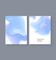business poster template with blue gradient liquid vector image