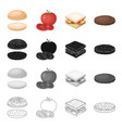 cafe burger butty and other web icon in cartoon vector image