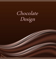 chocolate wave abstract background dark brown vector image vector image