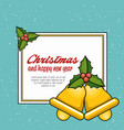 christmas bell decoration card vector image