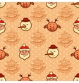 christmas pattern 3 vector image vector image