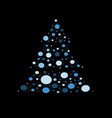 christmas tree with star vector image vector image