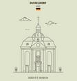 church of st maximilian in dusseldorf vector image vector image