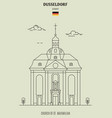 church st maximilian in dusseldorf vector image vector image