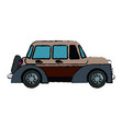 classic car vehicle transport motor vintage style vector image vector image