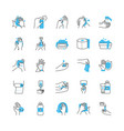 cleaning hands and hygiene icon set half color vector image vector image
