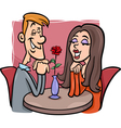 couple in love cartoon vector image