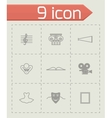 Culture icon set vector image
