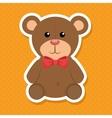 cute bear baby icon vector image