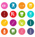 dental care icons many colors set vector image