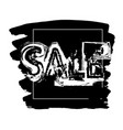 discount price tag in black color sale sign vector image