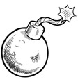doodle bomb vector image vector image