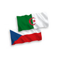flags czech republic and algeria on a white vector image vector image