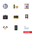 flat icon lifestyle set of tub electric alarm vector image vector image