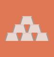 flat icon on stylish background gold bars vector image vector image
