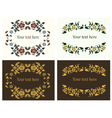 flower decorative borders set vector image vector image