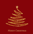 golden christmas tree vector image vector image