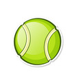 green tennis ball sports equipment vector image