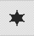 hexagram sheriff icon on transparent background vector image vector image