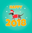 holiday dachshund perfect for year dog vector image