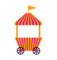 isolated carnival shopping tent vector image