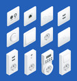 isometric switches and sockets set ac power vector image