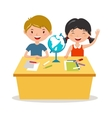 Kids school geography lessons vector image vector image