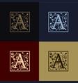 letter a decoration logo vector image vector image