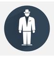 Man icon Office worker symbol Standing figure in vector image vector image