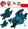 map of frankfurt am main with districts vector image vector image