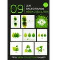 Mega collection of green leaf compositions vector image vector image