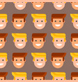 men head portrait seamless pattern friendship vector image vector image