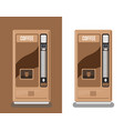 office coffee automatic machine vector image