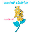 paper cut tropical-03 vector image vector image