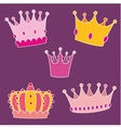 Pastel crown set vector image