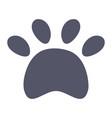 paw print pet mark icon vector image