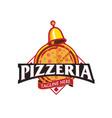 pizzeria emblem vector image vector image