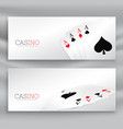 playing cards banner set vector image vector image