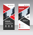 Red abstract Business Roll Up Banner flat design vector image vector image