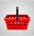 red shopping bag with round holes vector image vector image