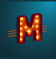 retro style letter m vector image