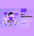 self management vector image
