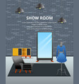 showroom loft flat background vector image vector image