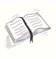 Sketched open book desktop icon vector image
