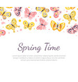 spring time banner template with beautiful vector image vector image