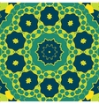 Stylized Mandala Green Colour Round Ornamental vector image vector image