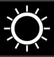 sun the white color icon vector image