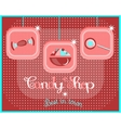 Sweets on dotted background vector image vector image