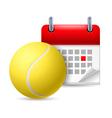 Tennis ball and calendar vector image vector image